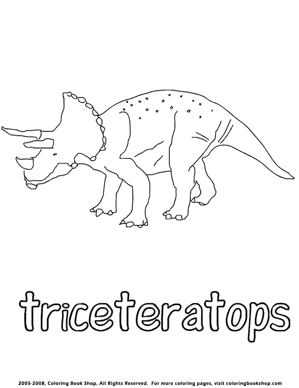 Triceratops Coloring Page By Coloringbookshop