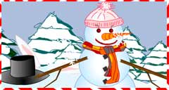 free, flash game, online, dress a snowman